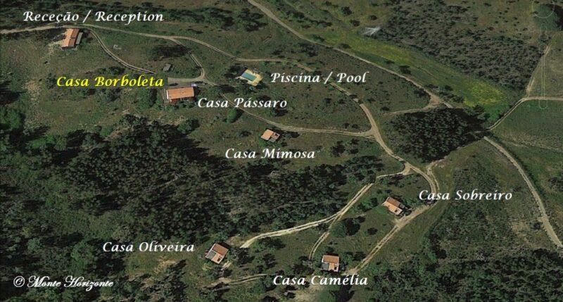 Monte Horizonte Holiday Portugal Casa Borboleta Location