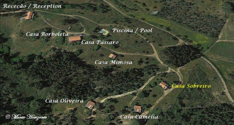 Monte Horizonte Holiday Portugal Casa Sobreiro Location